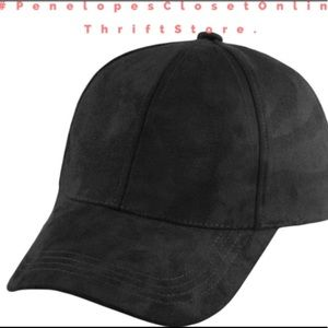 Suede black dad hat